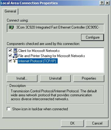 Configure TCP/IP settings from your network connection's