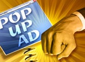 Pop-up ad art