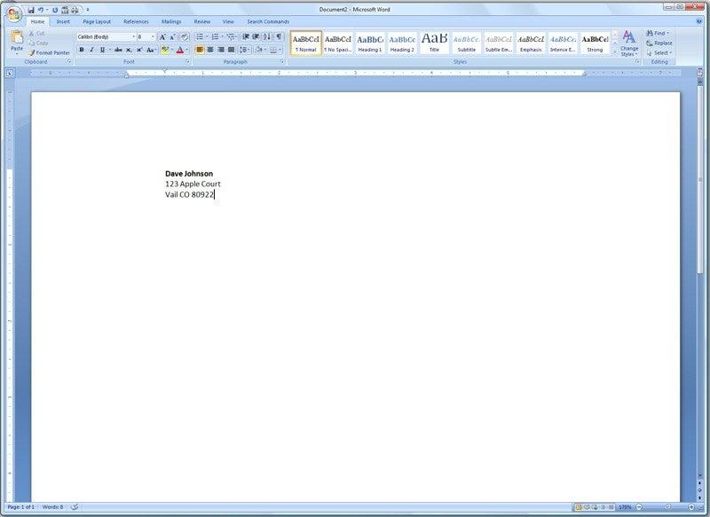 how to do a letterhead