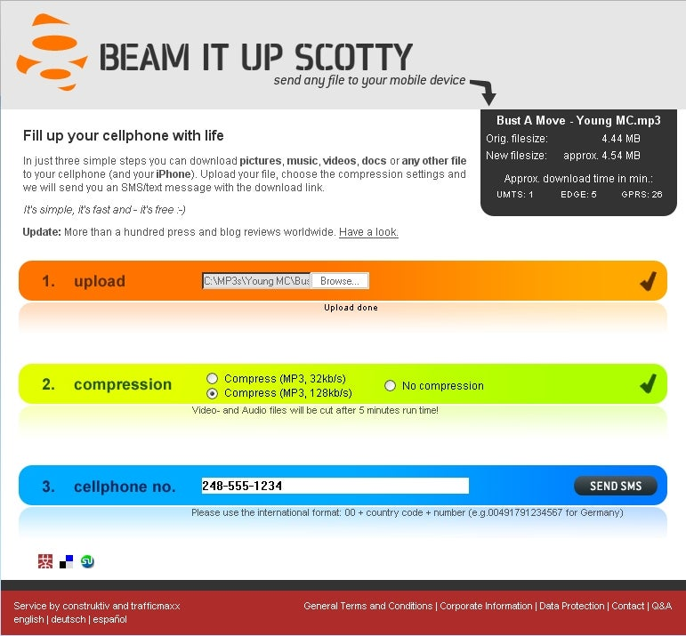 Beam It Up Scotty; click for full-size image.