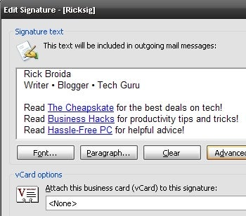 Fix Extra Line Breaks in Outlook Signatures | PCWorld