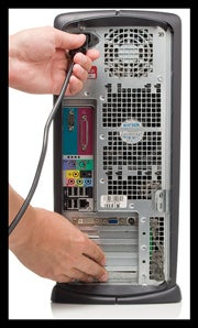 Safety tip: Touch metal on a case when unplugging a power cable.
