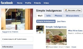 Simple Indulgences on Facebook