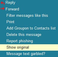 Gmail's 'Show original' option.