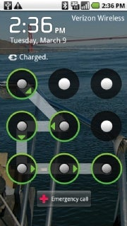 Android unlock pattern; click for full-size image.