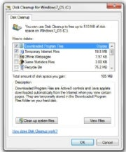 Disk Cleanup; click for full-size image.