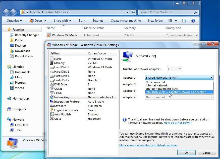 Network in Window 7's XP Mode | PCWorld