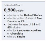 Facebook Ads estimated reach