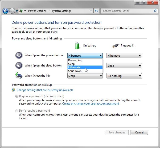 how to turn off standby mode windows 7