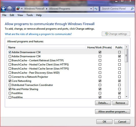 How Do I Configure Windows Firewall in Windows Vista or Windows 7