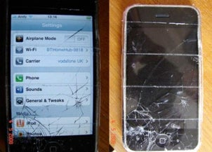 Cracked iPhone screen