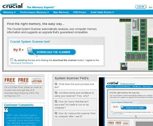Crucial System Scanner show what memory your PC takes.