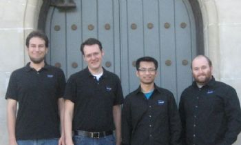 The BoxIT team: Eric Hasler, Thor Myhrstad, Chhay Chea and Matt Meier