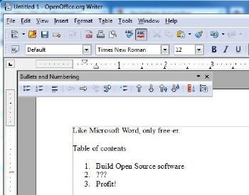 OpenOffice is among the free alternatives to Microsoft Office.
