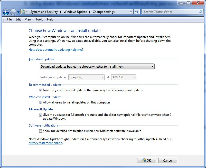 Windows installing updates without permission definition update for windows defender kb915597 definition 1.37 579.0