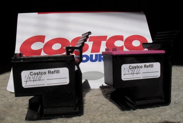 Costco refilled ink cartridges