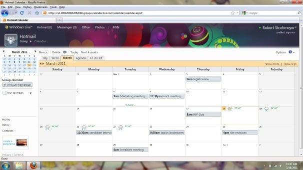 Live Groups Calendar