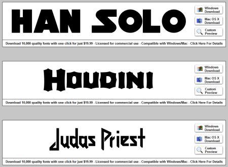 1001 free fonts download zip