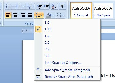 Microsoft Word Tip Adjust Your Document S Line Spacing