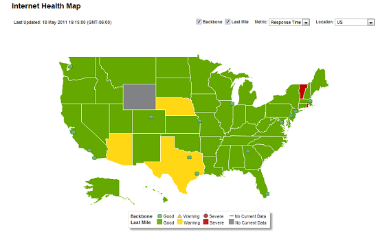 Internet Health Map Tracks Data Flow On Web PCWorld - Us internet health map