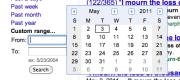 Google custom date range