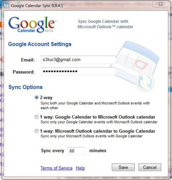 Google Calendar Sync can sync between Microsoft Outlook and your Google Calendar.