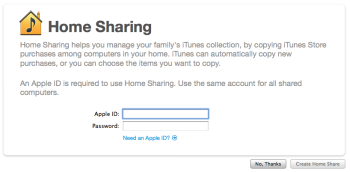 Apple Home Sharing