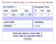 Julian Calendar Converter