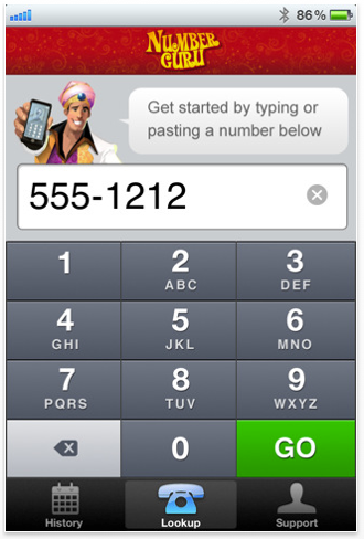 Free reverse phone number address