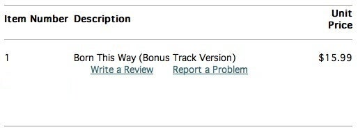 iTunes receipt