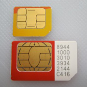 Photo: MicroSIM vs SIM card. Credit: Solutios