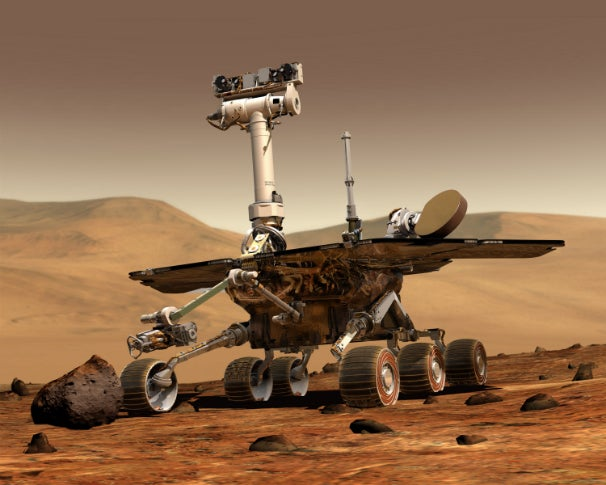 The Spirit rover.
