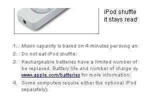 ipod shuffle warning funny