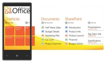 Windows Phone 7's Office Hub.