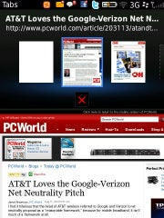 BlackBerry's tabbed browsing in OS 6.
