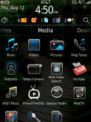 BlackBerry home screen in OS 6.