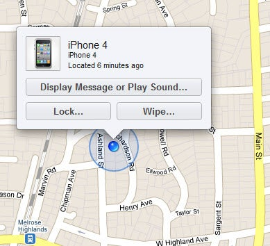 Apple iphone tracker