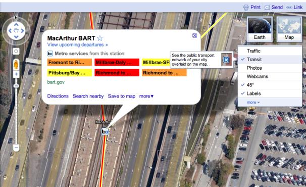 Google Maps Transit Info