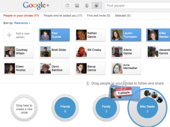 Here's what Google+ friend group sharing options look like.