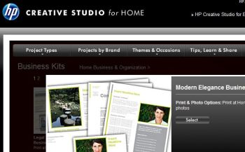 HP's Creative Studio offers free Business Kits with letterhead.