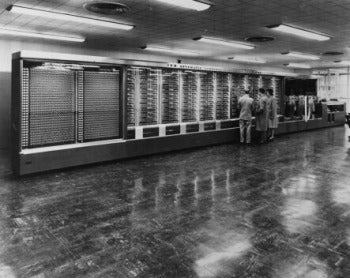 IBM's Harvard Mark I was 51 feet long and weighed nearly 5 tons.
