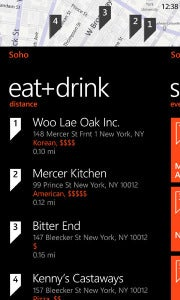 Bing Local Scout on Windows Phone 7 Mango