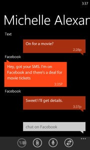 Messaging app in Windows Phone 7 Mango