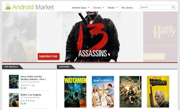 New Android Market App Brings Movies, Books to Smartphones