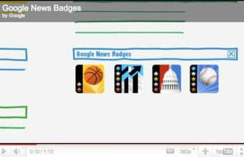 Google 'gamifies' the news with badges.