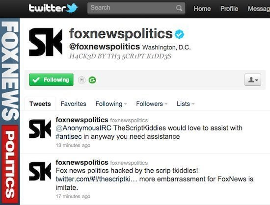 Fox News Twitter Account Hacked, Falsely Reports President's Death
