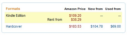 Amazon Offers Kindle Textbook Rentals