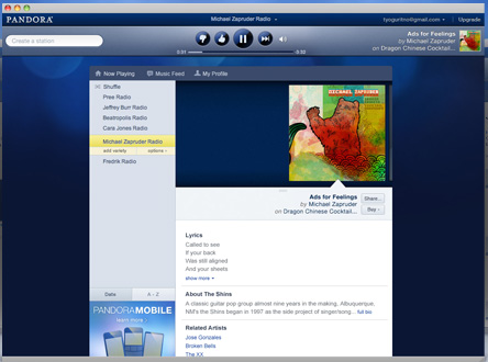 Pandora Unveils Redesigned Site