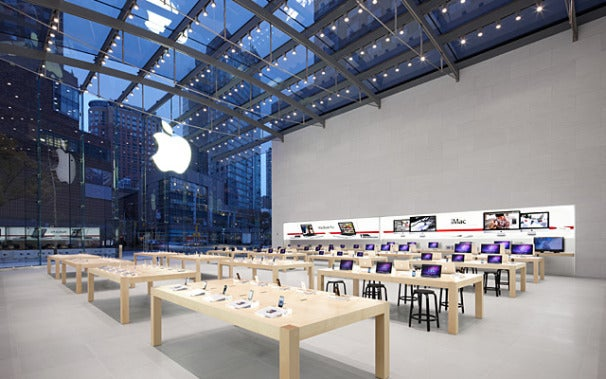 The next apple store a glass roofed beauty pcworld for Interior architect jobs new york