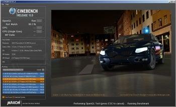 Cinebench screenshot